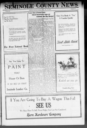 Primary view of object titled 'Seminole County News (Seminole, Okla.), Vol. 15, No. 31, Ed. 1 Thursday, October 20, 1921'.