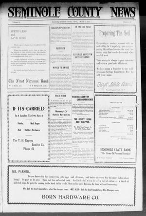 Primary view of object titled 'Seminole County News (Seminole, Okla.), Vol. 16, No. 50, Ed. 1 Thursday, March 1, 1923'.