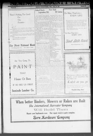 Primary view of object titled 'Seminole County News (Seminole, Okla.), Vol. 15, No. 23, Ed. 1 Thursday, August 25, 1921'.