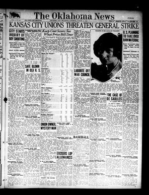 Primary view of object titled 'The Oklahoma News (Oklahoma City, Okla.), Vol. 11, No. 273, Ed. 1 Saturday, August 11, 1917'.