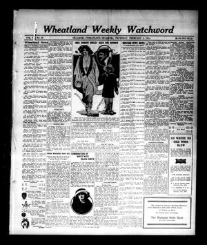 Primary view of object titled 'Wheatland Weekly Watchword (Oklahoma [Wheatland], Okla.), Vol. 6, No. 39, Ed. 1 Thursday, February 5, 1914'.