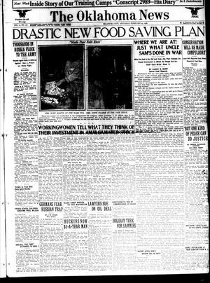 Primary view of The Oklahoma News (Oklahoma City, Okla.), Vol. 12, No. 127, Ed. 1 Saturday, February 23, 1918