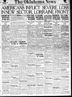 Primary view of object titled 'The Oklahoma News (Oklahoma City, Okla.), Vol. 12, No. 136, Ed. 1 Wednesday, March 6, 1918'.