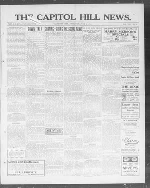 Primary view of object titled 'The Capitol Hill News. (Oklahoma City, Okla.), Vol. 8, No. 38, Ed. 1 Thursday, June 5, 1913'.