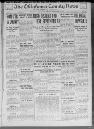 Primary view of object titled 'The Oklahoma County News (Jones City, Okla.), Vol. 15, No. 19, Ed. 1 Friday, September 10, 1915'.
