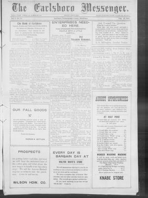 Primary view of object titled 'The Earlsboro Messenger. (Earlsboro, Okla.), Vol. 1, No. 11, Ed. 1 Thursday, August 22, 1912'.