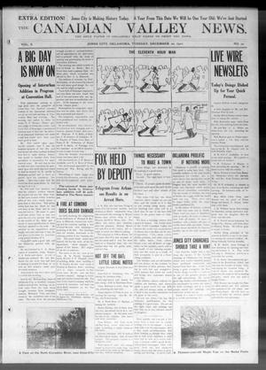 Primary view of object titled 'The Canadian Valley News. (Jones City, Okla.), Vol. 10, No. 32, Ed. 3 Tuesday, December 20, 1910'.