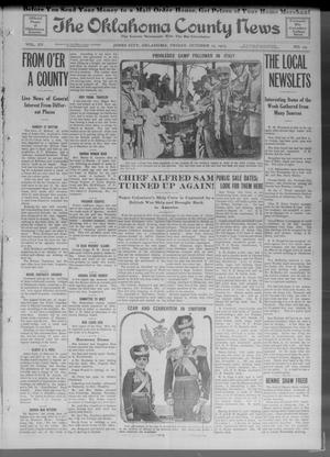 Primary view of object titled 'The Oklahoma County News (Jones City, Okla.), Vol. 15, No. 24, Ed. 1 Friday, October 15, 1915'.