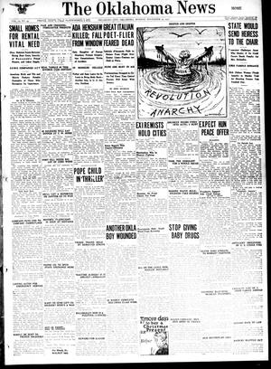 Primary view of object titled 'The Oklahoma News (Oklahoma City, Okla.), Vol. 12, No. 43, Ed. 1 Monday, November 19, 1917'.