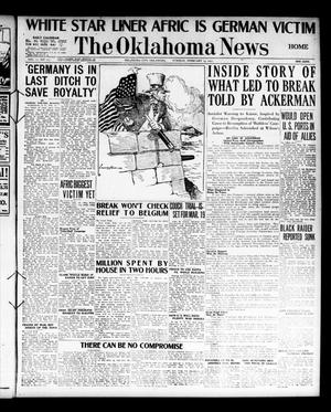 Primary view of object titled 'The Oklahoma News (Oklahoma City, Okla.), Vol. 11, No. 117, Ed. 1 Tuesday, February 13, 1917'.