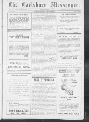 Primary view of object titled 'The Earlsboro Messenger. (Earlsboro, Okla.), Vol. 1, No. 27, Ed. 1 Thursday, November 21, 1912'.