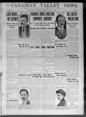The Canadian Valley News. (Jones City, Okla.), Vol. 12, No. 36, Ed. 1 Friday, January 17, 1913