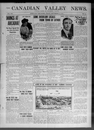 Primary view of object titled 'The Canadian Valley News. (Jones City, Okla.), Vol. 13, No. 19, Ed. 1 Friday, September 19, 1913'.