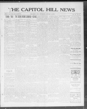 Primary view of object titled 'The Capitol Hill News (Oklahoma City, Okla.), Vol. 9, No. 17, Ed. 1 Thursday, January 8, 1914'.