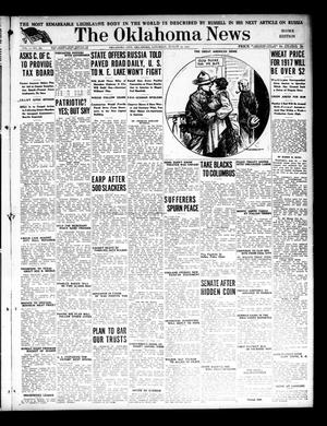 Primary view of object titled 'The Oklahoma News (Oklahoma City, Okla.), Vol. 11, No. 285, Ed. 1 Saturday, August 25, 1917'.
