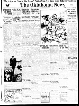 Primary view of object titled 'The Oklahoma News (Oklahoma City, Okla.), Vol. 12, No. 80, Ed. 1 Monday, December 31, 1917'.