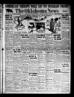 Primary view of object titled 'The Oklahoma News (Oklahoma City, Okla.), Vol. 11, No. 270, Ed. 1 Wednesday, August 8, 1917'.