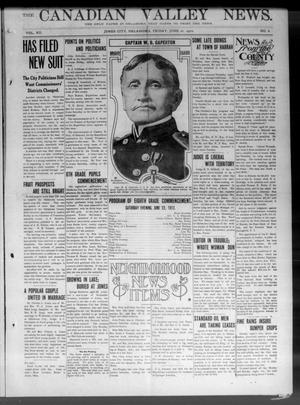 Primary view of object titled 'The Canadian Valley News. (Jones City, Okla.), Vol. 12, No. 6, Ed. 1 Friday, June 21, 1912'.