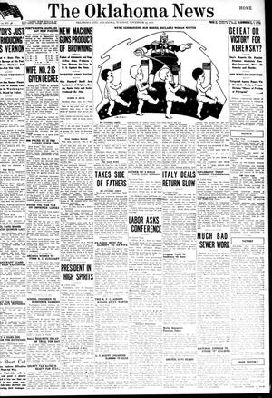 Primary view of object titled 'The Oklahoma News (Oklahoma City, Okla.), Vol. 12, No. 38, Ed. 1 Tuesday, November 13, 1917'.