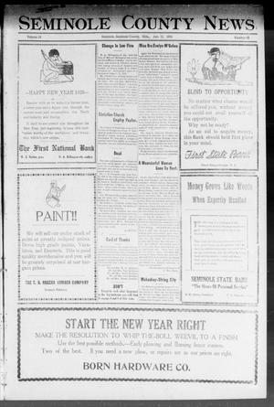 Primary view of object titled 'Seminole County News (Seminole, Okla.), Vol. 16, No. 43, Ed. 1 Thursday, January 11, 1923'.