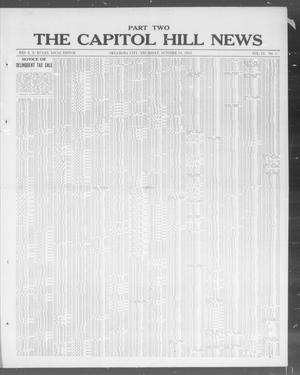 Primary view of object titled 'The Capitol Hill News (Oklahoma City, Okla.), Vol. 9, No. 5, Ed. 2 Thursday, October 16, 1913'.