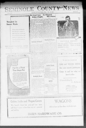 Primary view of object titled 'Seminole County News (Seminole, Okla.), Vol. 18, No. 31, Ed. 1 Thursday, October 25, 1923'.