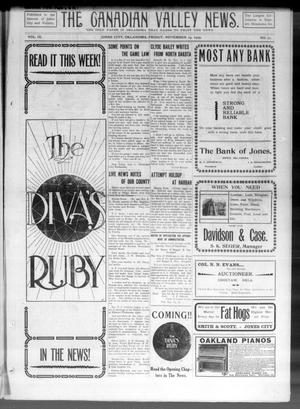 Primary view of object titled 'The Canadian Valley News. (Jones City, Okla.), Vol. 9, No. 27, Ed. 1 Friday, November 19, 1909'.