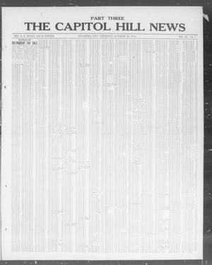 Primary view of object titled 'The Capitol Hill News (Oklahoma City, Okla.), Vol. 9, No. 7, Ed. 3 Thursday, October 30, 1913'.