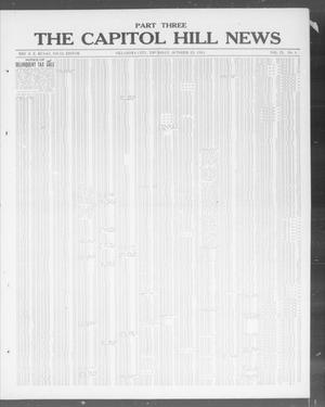 Primary view of object titled 'The Capitol Hill News (Oklahoma City, Okla.), Vol. 9, No. 6, Ed. 3 Thursday, October 23, 1913'.
