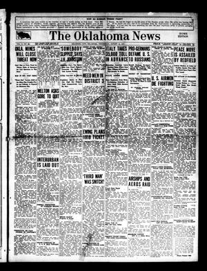 Primary view of object titled 'The Oklahoma News (Oklahoma City, Okla.), Vol. 11, No. 282, Ed. 1 Wednesday, August 22, 1917'.