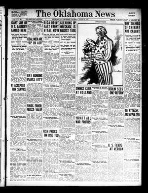 Primary view of object titled 'The Oklahoma News (Oklahoma City, Okla.), Vol. 11, No. 283, Ed. 1 Thursday, August 23, 1917'.
