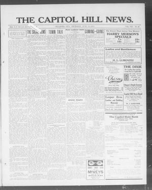 Primary view of object titled 'The Capitol Hill News. (Oklahoma City, Okla.), Vol. 8, No. 40, Ed. 1 Thursday, June 19, 1913'.