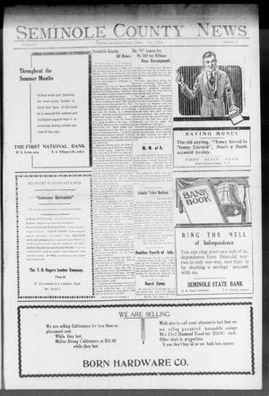 Primary view of object titled 'Seminole County News (Seminole, Okla.), Vol. 17, No. 16, Ed. 1 Thursday, July 5, 1923'.