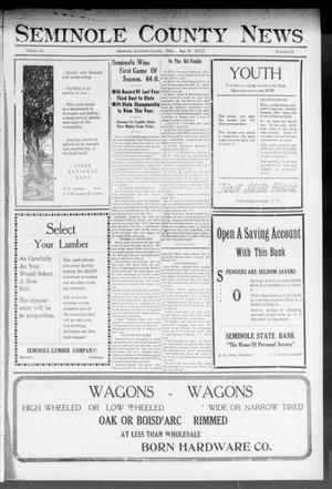 Primary view of object titled 'Seminole County News (Seminole, Okla.), Vol. 16, No. 28, Ed. 1 Thursday, September 28, 1922'.