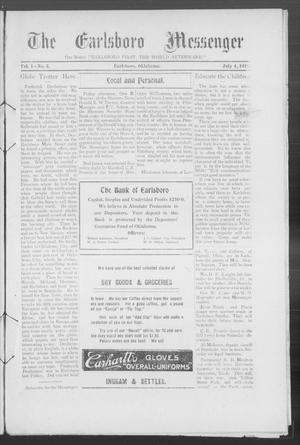 Primary view of object titled 'The Earlsboro Messenger (Earlsboro, Okla.), Vol. 1, No. 3, Ed. 1 Thursday, July 4, 1912'.