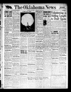 Primary view of object titled 'The Oklahoma News (Oklahoma City, Okla.), Vol. 11, No. 257, Ed. 1 Wednesday, July 25, 1917'.