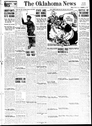 Primary view of object titled 'The Oklahoma News (Oklahoma City, Okla.), Vol. 12, No. 20, Ed. 1 Wednesday, October 24, 1917'.