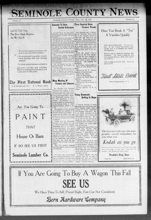 Primary view of object titled 'Seminole County News (Seminole, Okla.), Vol. 15, No. 30, Ed. 1 Thursday, October 13, 1921'.