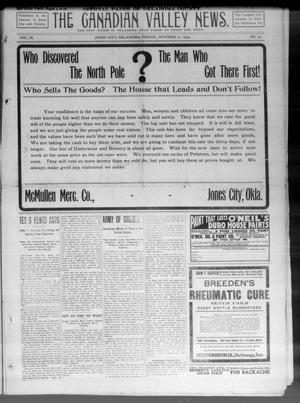 Primary view of object titled 'The Canadian Valley News. (Jones City, Okla.), Vol. 9, No. 23, Ed. 2 Friday, October 22, 1909'.