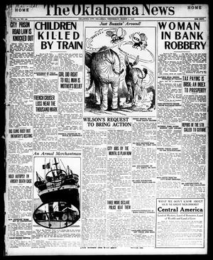 Primary view of object titled 'The Oklahoma News (Oklahoma City, Okla.), Vol. 10, No. 130, Ed. 1 Wednesday, March 1, 1916'.