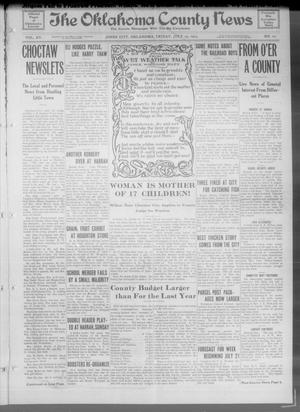 Primary view of object titled 'The Oklahoma County News (Jones City, Okla.), Vol. 15, No. 12, Ed. 1 Friday, July 23, 1915'.