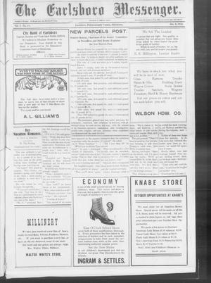 Primary view of object titled 'The Earlsboro Messenger. (Earlsboro, Okla.), Vol. 1, No. 18, Ed. 1 Thursday, October 3, 1912'.
