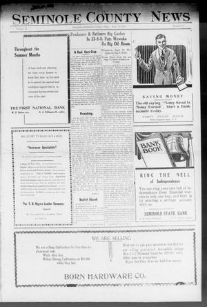 Primary view of object titled 'Seminole County News (Seminole, Okla.), Vol. 17, No. 17, Ed. 1 Thursday, July 12, 1923'.