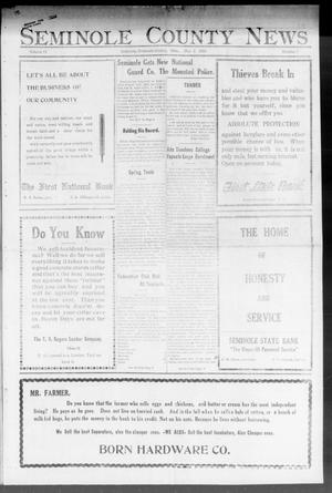 Primary view of object titled 'Seminole County News (Seminole, Okla.), Vol. 17, No. 7, Ed. 1 Thursday, May 3, 1923'.