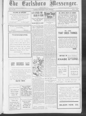 Primary view of object titled 'The Earlsboro Messenger. (Earlsboro, Okla.), Vol. 1, No. 29, Ed. 1 Thursday, December 5, 1912'.