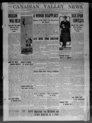 The Canadian Valley News. (Jones City, Okla.), Vol. 12, No. 34, Ed. 1 Friday, January 3, 1913