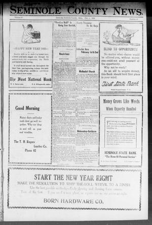 Primary view of object titled 'Seminole County News (Seminole, Okla.), Vol. 16, No. 46, Ed. 1 Thursday, February 1, 1923'.