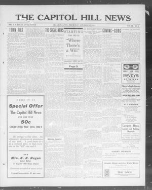 Primary view of object titled 'The Capitol Hill News (Oklahoma City, Okla.), Vol. 9, No. 6, Ed. 1 Thursday, October 23, 1913'.