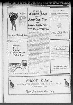 Primary view of object titled 'Seminole County News (Seminole, Okla.), Vol. 15, No. 40, Ed. 1 Thursday, December 22, 1921'.