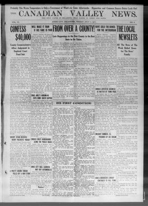 Primary view of object titled 'The Canadian Valley News. (Jones City, Okla.), Vol. 11, No. 8, Ed. 1 Friday, July 7, 1911'.